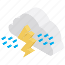 atmospheric condition, climate, meteorological condition, rain, storm, thunder, weather, weather forecast icon