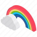 atmospheric condition, climate, cloud, meteorological condition, pleasant, rainbow, weather, weather forecast icon