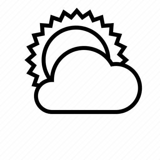 cloud, clouds, cloudy, day, sun, weather icon