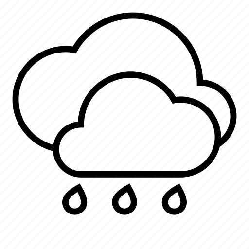clouds, cloudy, rain, weather icon