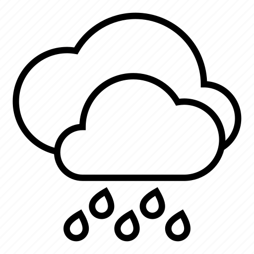 clouds, rain, storm, weather icon
