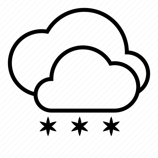 clouds, cloudy, snow, snowfall, weather, winter icon