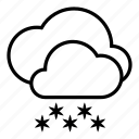 cloud, clouds, cloudy, snow, snowfall, weather, winter icon