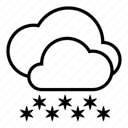 clouds, cloudy, heavy snow, snow, weather, winter icon