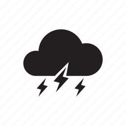 climate, cloud, lightning, night, rain, thunder, weather icon