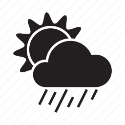 climate, cloud, cold, drizzle, morning, sun, weather icon