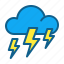 atmosphere, climate, cloud, clouds, forecast, strom, weather icon