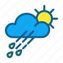 atmosphere, climate, clouds, forecast, rain, sun, weather icon