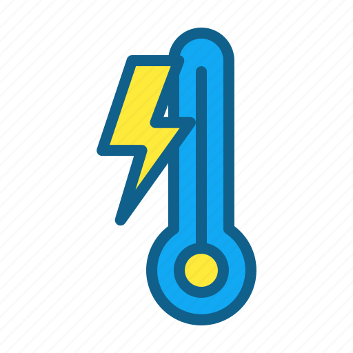 climate, freezing, lightning, temperate, temperature, winter icon