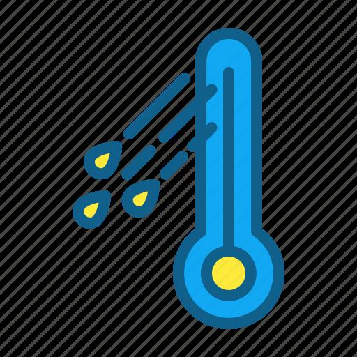 climate, freezing, rain, temperate, temperature icon