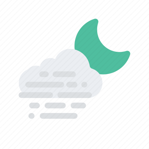 Cloud, fog, forecast, mist, night, temperature, weather icon - Download on Iconfinder