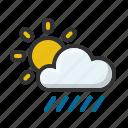 cloud, forecast, rain, rainny, sun, sunny, weather