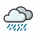 clouds, cloudy, forecast, rain, rainny, weather icon
