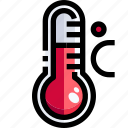 celsius, degrees, mercury, temperature, thermometer, weather icon