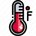 degrees, fahrenheit, mercury, temperature, thermometer, weather icon