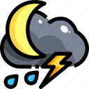bolt, cloud, rainy, storm, thunder, thunderbolt, thunderstorm icon