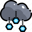 hail, ice, meteorology, sky, storm, weather, winter icon