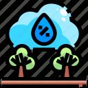 cold, la, nina, rain, rainfall, trees, weather icon
