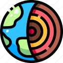 earth, education, geology, planet, school icon
