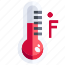 degrees, fahrenheit, mercury, temperature, thermometer, weather