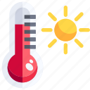 celsius, degrees, farenheit, high, temperature, temperatures, thermometer icon