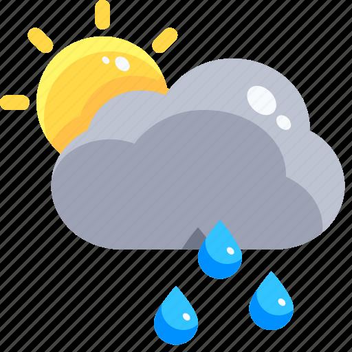 Drop, rain, raindrop, shower, sun, teardrop, water icon - Download on Iconfinder