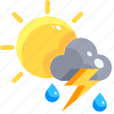 climate, clouds, rain, storm, thunder, thunderbolt, thunderstorm icon