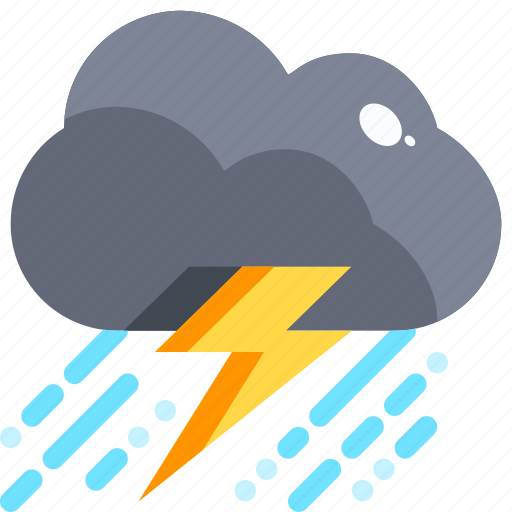 Climate, clouds, rain, storm, thunder, thunderbolt, thunderstorm icon - Download on Iconfinder