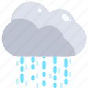 drops, nature, rain, shower, water, weather icon