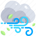 breeze, cloud, weather, wind, winds, windy, winter icon