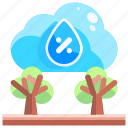 cold, la, nina, rain, rainfall, trees, weather icon
