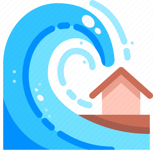 catastrophe, disaster, nature, tsunami, wave, waves, weather icon