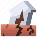 disaster, earthquake, ground, landscape, nature, weather icon