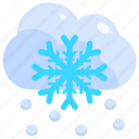 meteorology, nature, snow, snowfall, snowstorm, weather icon