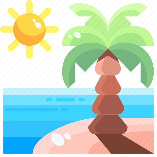 Beach, holidays, summer, sun, umbrella, vacations, weather icon - Download on Iconfinder