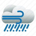 cloud, rain, weather, wind icon