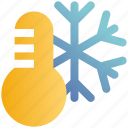 cold, snow, snowflakes, temperature, thermostat, weather, winter