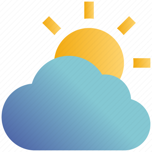 Cloud, day, forecast, sun, sunny, thin, weather icon - Download on Iconfinder