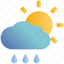 cloud, day, forecast, rain, rainy, sun, weather