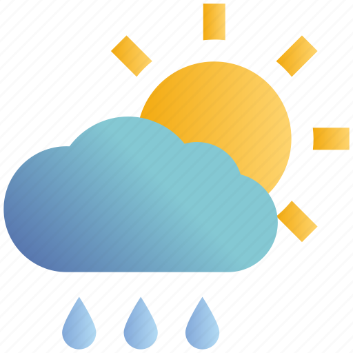 Cloud, day, forecast, rain, rainy, sun, weather icon - Download on Iconfinder