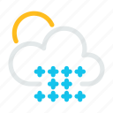 cloud, condition, forecast, snow, weather icon