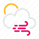 cloud, condition, forecast, sun, weather, wind