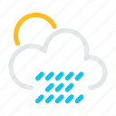 cloud, cloudy, condition, rain icon