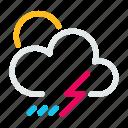 condition, forecast, rain, thunder, weather