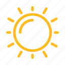 condition, forecast, summer, sun, sunny, weather icon