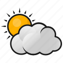 clouds, sun, sun in clouds, weather icon