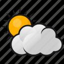 clouds, sun, sun in clouds, weather