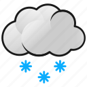 clouds, snow, snowflakes, weather, winter