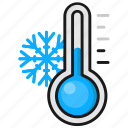 cold, temperature, thermometer, weather, winter icon