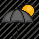 summer, sun, umbrella, weather
